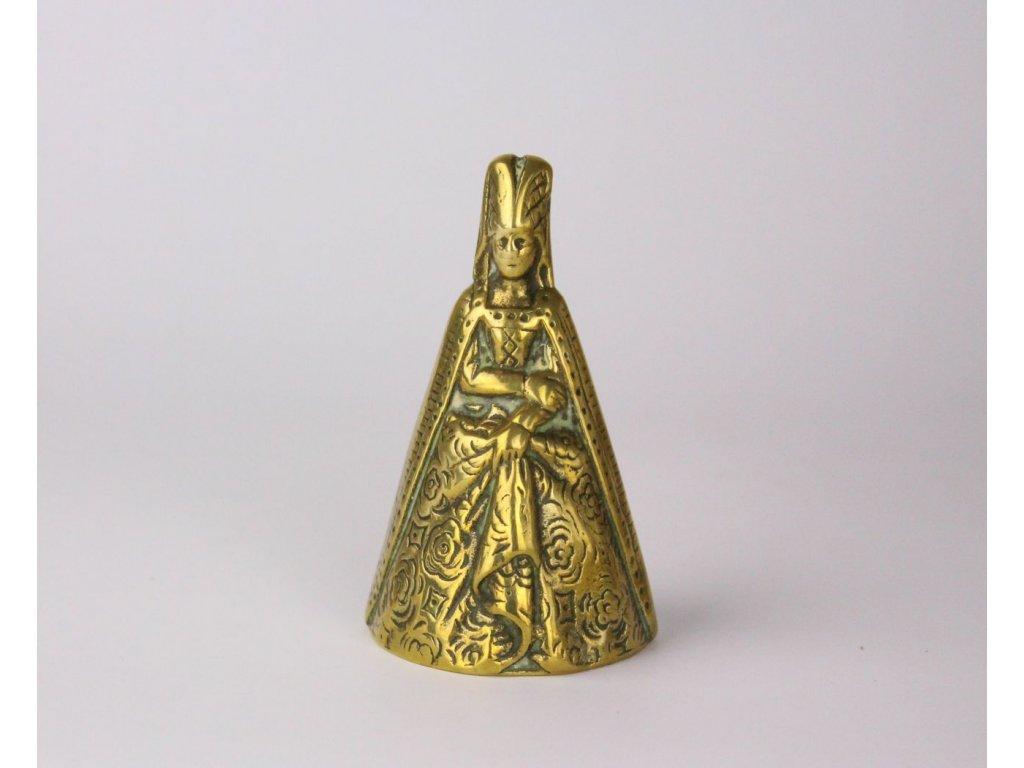 Zvonek královna mosaz masivní x837 4