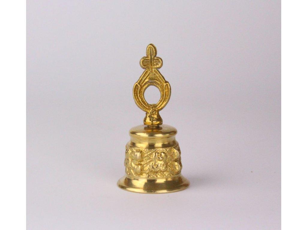 Mosazný zvoneček s držátkem x839 3