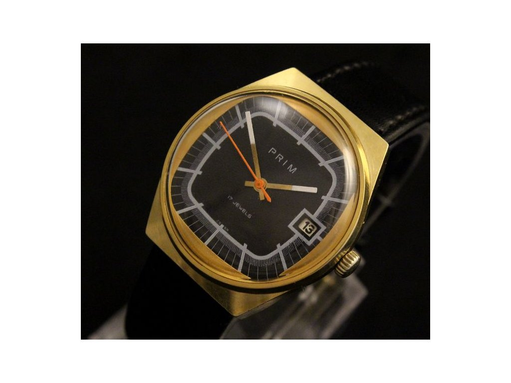 hodinky prim 17 jevels RS 1209 dat soudek čer cif bílé minuty zlac 2