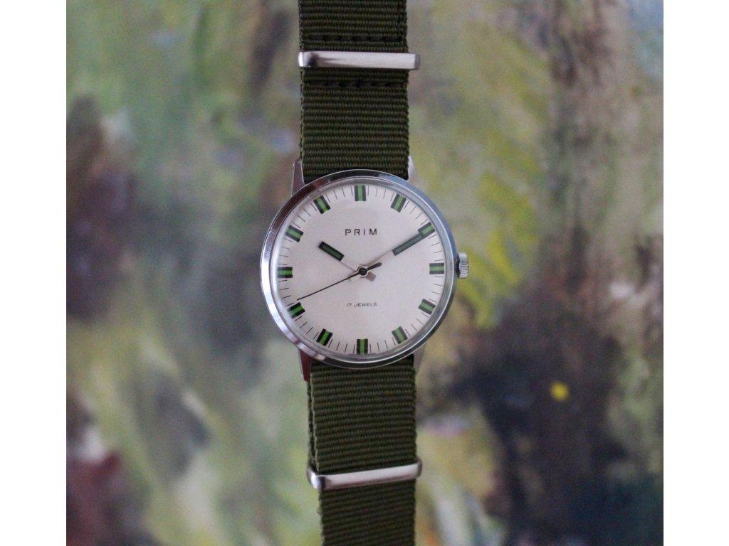 Hodinky Prim zelené 17 jewels luxusní stav - Starožitnosti - GASH.CZ 6c9338c399