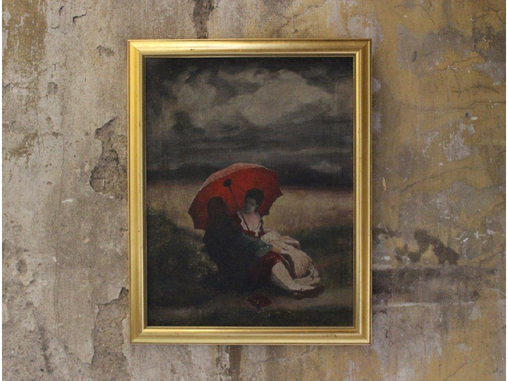 Obraz piknik dáma s paraplíčkem x885 (1)