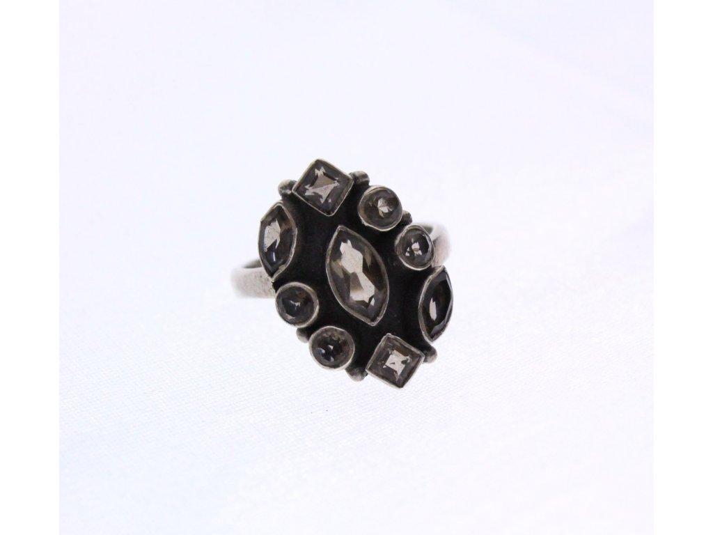 Stříbrný prsten Peridot x925 (1)