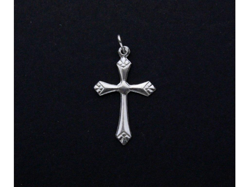 Stříbrný KŘÍŽEK prívěsek x939(5)