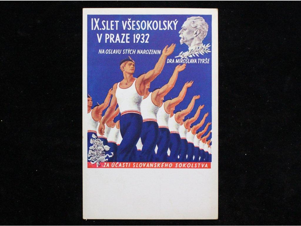 Pohled IX SLET VŠESOKOLSKÝ V PRAZE 1932 x996 (2)