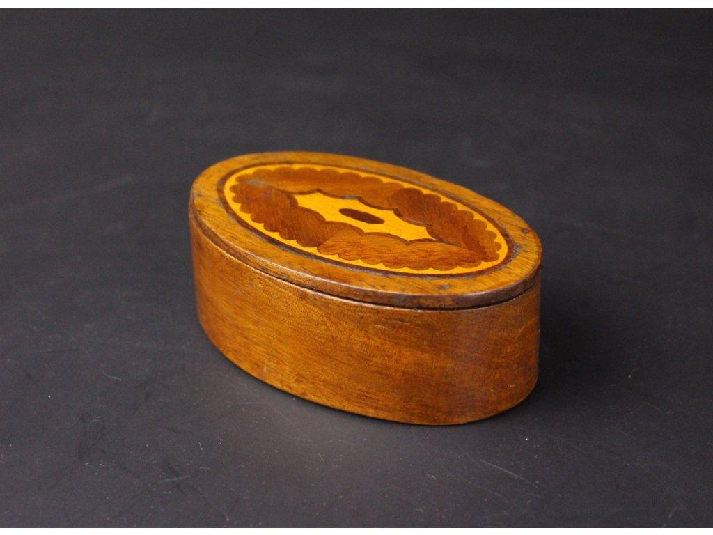 Stará šperkovnice dřevo intarzie x1094 (5)