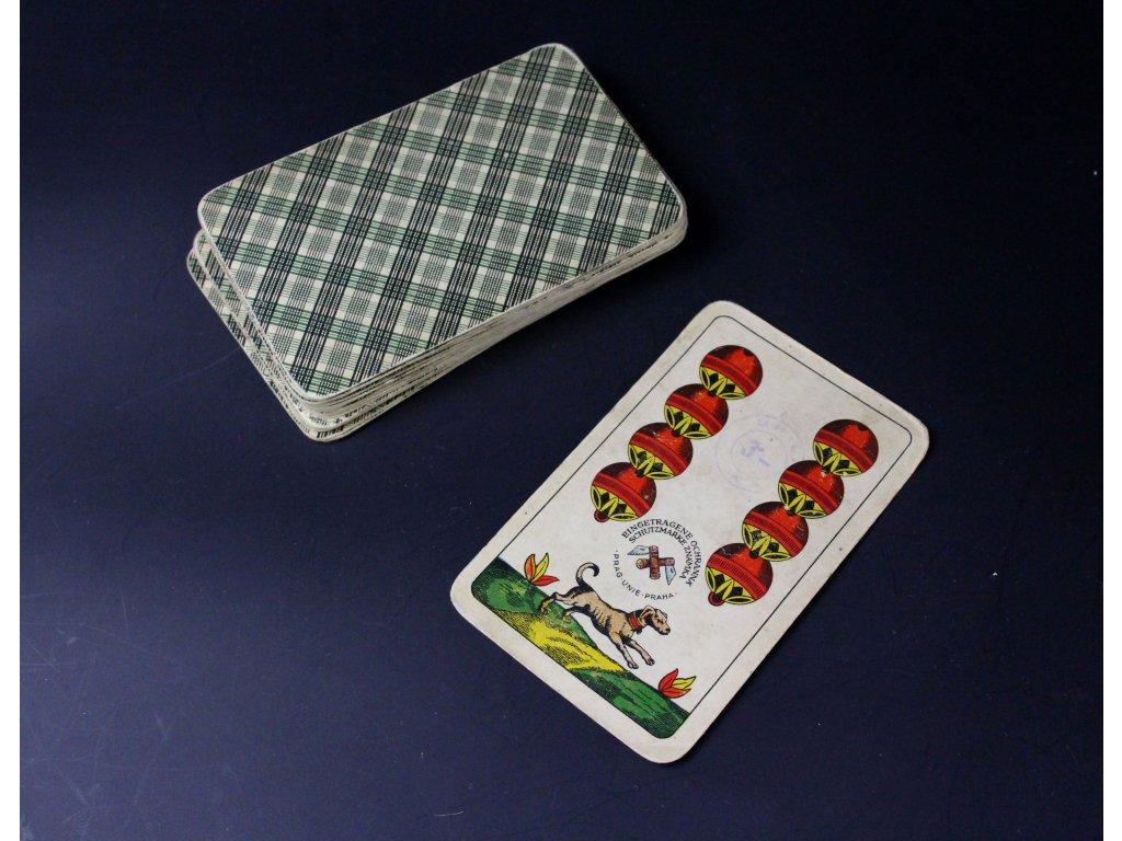 Staré hrací karty jednohlavé x1107 (1)