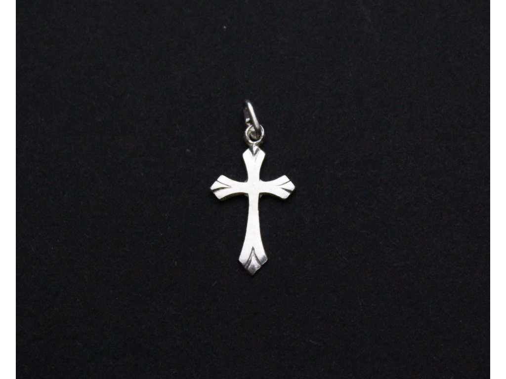 Přívěšek stříbrný křížek x1168 (2)