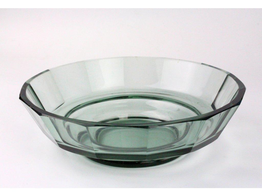 Mísa olivínové sklo broušená 30. léta x1185 (1)