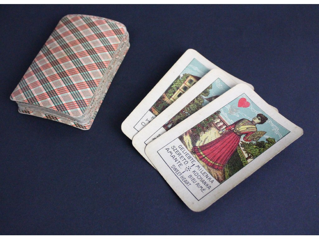 Staré věštecké karty Vykládací karty x1224 (1)