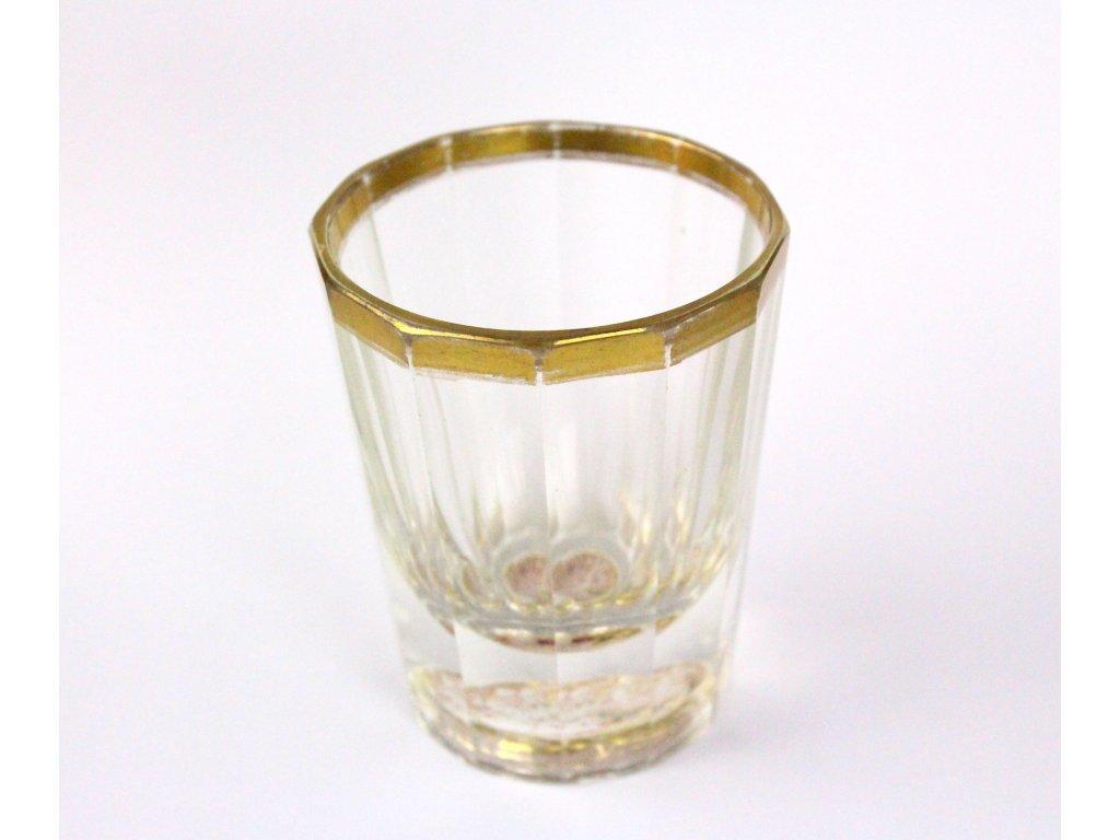Biedermeierská sklenička malovaná x1269 (1)