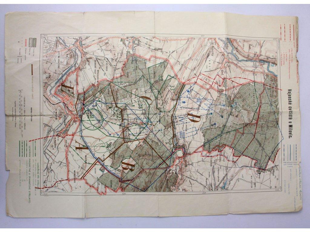 Vojenské cvičiště u Milovic mapa (2)