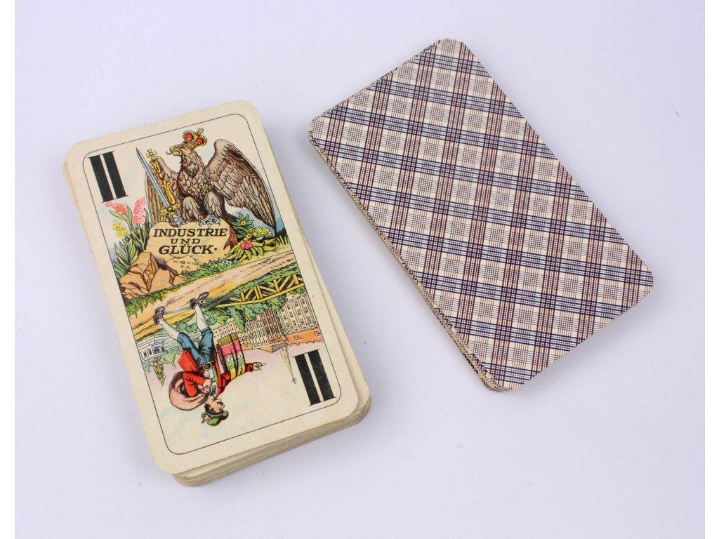 Hrací karty Industrie und Glück Ferd Piatnik & Söhne A.G. 55 kusů VI.43 No 103 D.F.