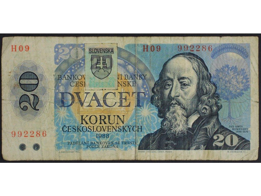 35378 20 kcs 1988 s h09 kolek slovensko