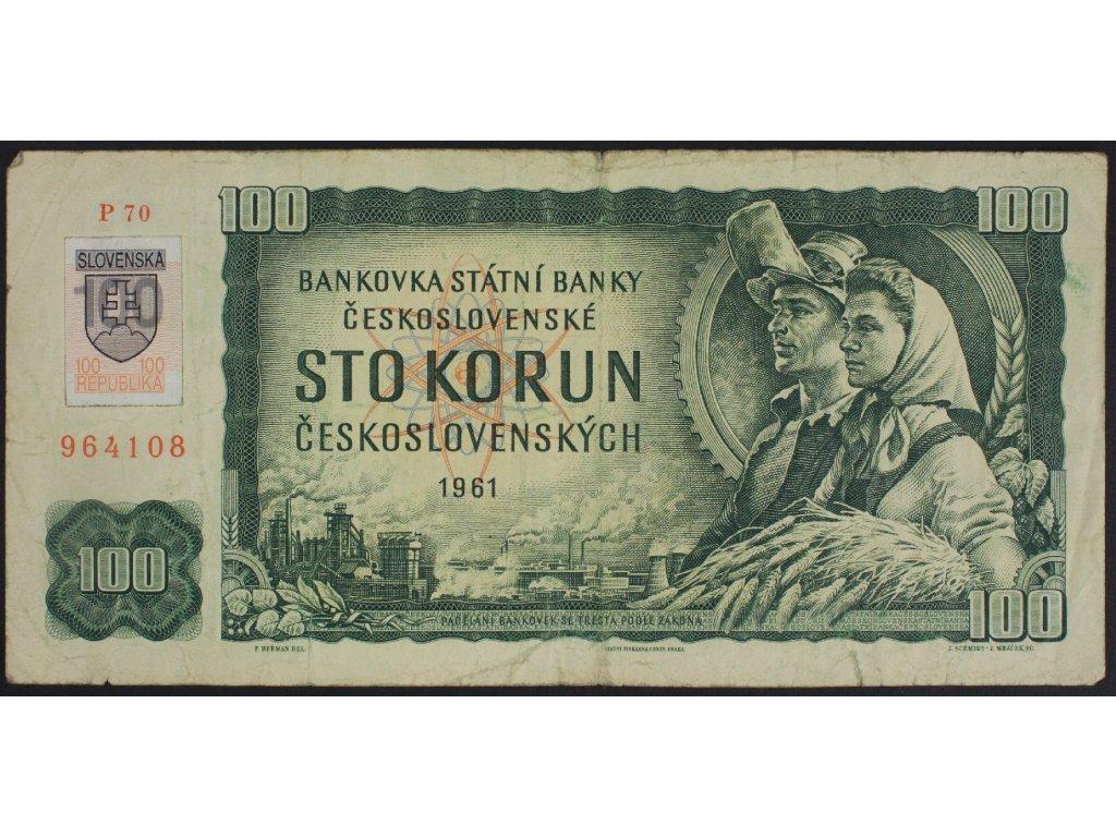 35384 100 kcs 1961 s p kolek slovensko