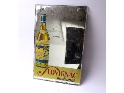 Reklama brandy zrcadlo SLOVIGNAC MEDICINAL x421 2