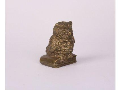 Bronzová soška sova těžítko x719 6