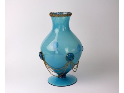 Modrá váza sklo x789 2
