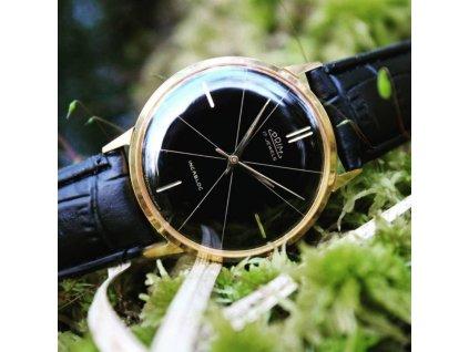 Luxusní hodinky Prim zlacené černý ciferník RS1325 9