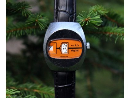 Hodinky Ruhla digital oranžové RS1350 5