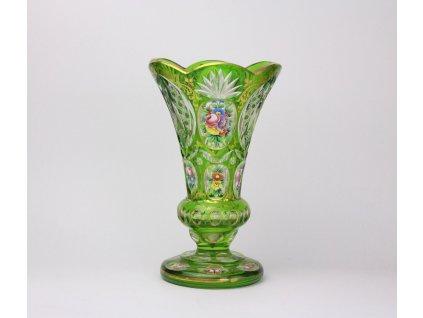 Broušená malovaná váza 23 cm x903 (1)
