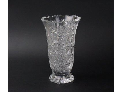 Broušená váza sklo x904 (5)
