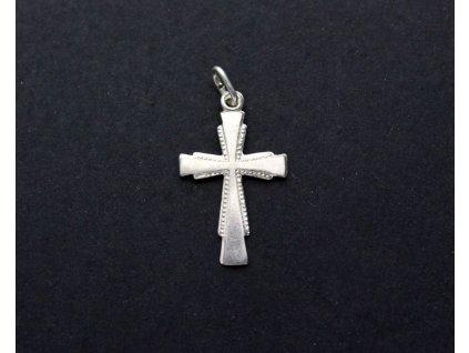 Stříbrný přívesek křížek x937(1)