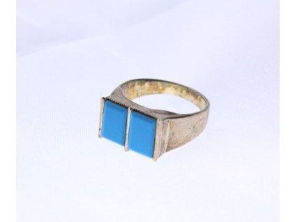 Stříbrný prsten TYRKYS x945(6)
