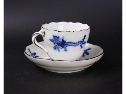 Porcelánový hrníček s podšálkem Míšeň x1101 (2)