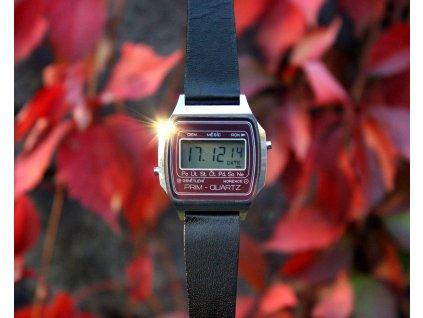 Hodinky PRIM quartz digital bordó 1983 RS1551 (1)
