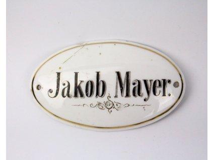 Židovský jmenovka vizitka na dveře x1142 (2)