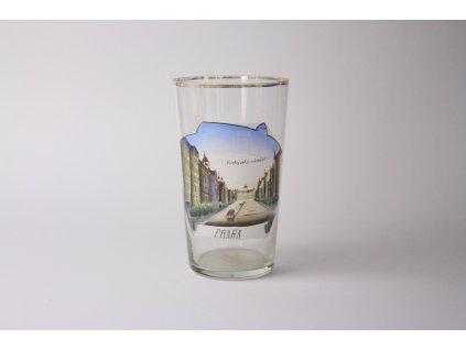 starožitná sklenička motiv Václavské náměstí Praha x1147 (15)