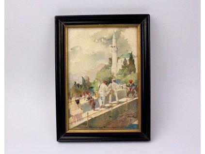 Obraz Mostar Josef Soukup 1938 x1148 (7)