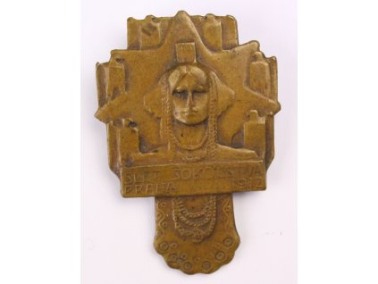 Z108 secesní odznak slet sokolstva Praha 1912 (1)