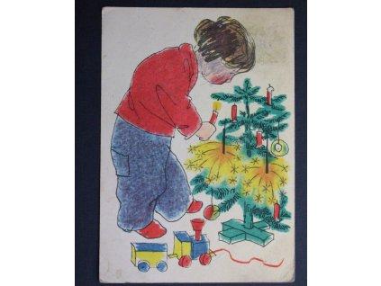 Vánoční pohled dítě V. Vrbové P136 (3)