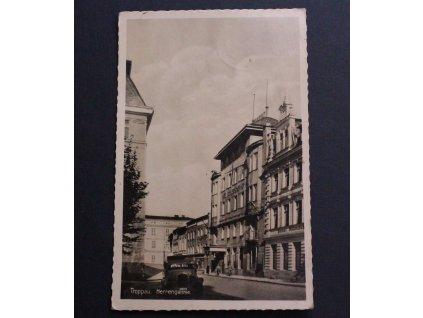 Pohlednice Opava Troppau Herrengasse P159 (2)
