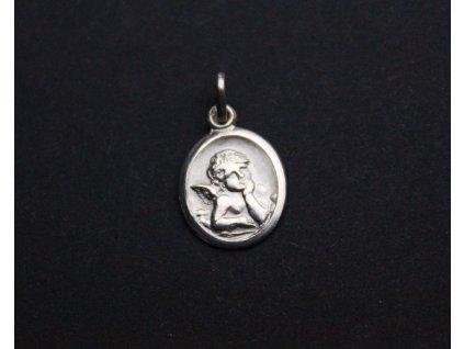Stříbrný přívěšek andělíček x1159 (1)