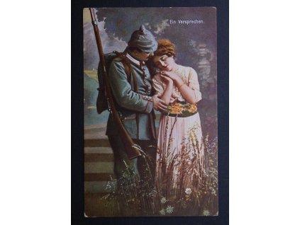 Vojenská dopisnice pohlednice Ein Versprechen 1917 P161 (3)