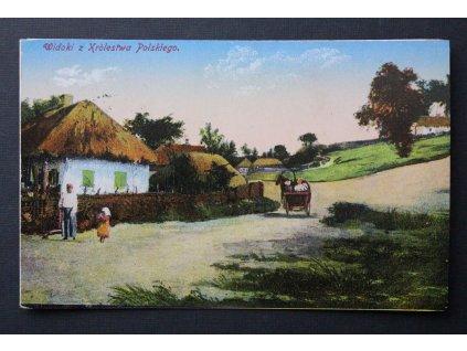 Stará pohlednice dopisnice Widoki z Krolestwa Polskiego P183 (3)