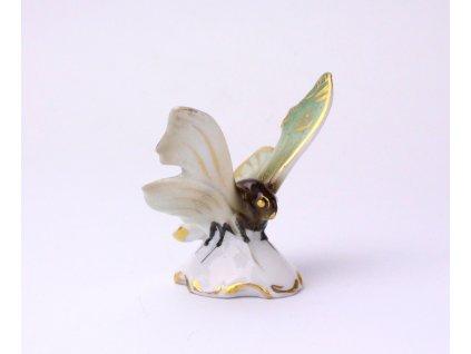 Starožitný porcelán soška MOTÝL x1182 (1)