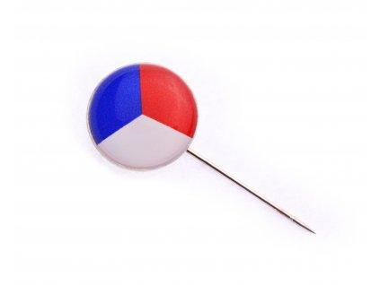 Odznak ČR vlajka ČSR – 15mm – kulatá + jehla N102 (2)