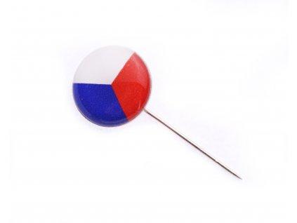 Odznak ČR vlajka ČSR – 15mm – kulatá + jehla N103 (1)
