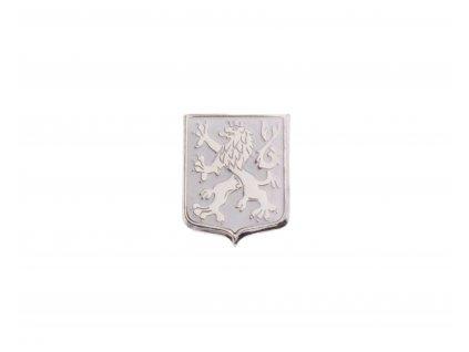 Odznak Český lev pavéza bílé pole N109 (1)