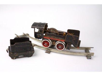 Starožitný vláček na klíček hračka na náhradní díly x1218 (12)