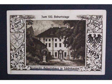 Pohlednice Postkarte Bismarck Karte Zum 100. Geburtstage Bismarcks Geburtshaus in Schonhaufen P199 (2)