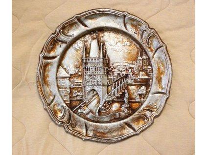 Nástěnný talíř prašná brána hliník x1267 (3)