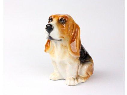 Porcelánová soška pes baset x1281(8)
