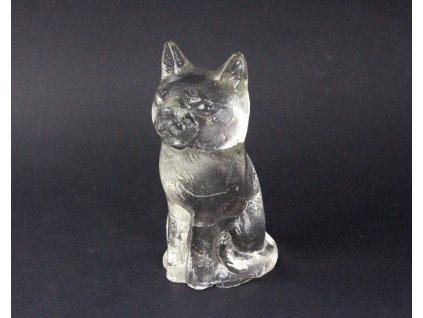 Staré skleněné težítko kočka x1282 (1)