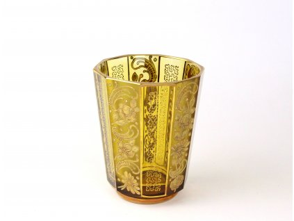 Stará skleněná váza zlacená x1291(9)