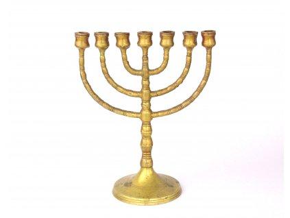 Židovský svícen MENORA 24 cm mosazná x1301 (1)