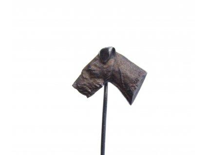 starý stříbrný lovecký pes odznáček x1314 (5)